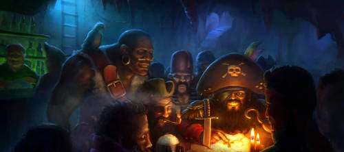Scheming Pirates by merbel