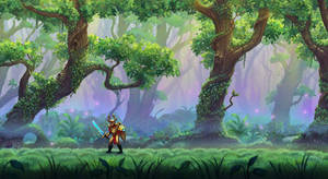 Parallax Forest Background by merbel