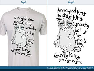 T-shirt design #2 - (Soft Kitty) Grumpy Kitty by Wojdan