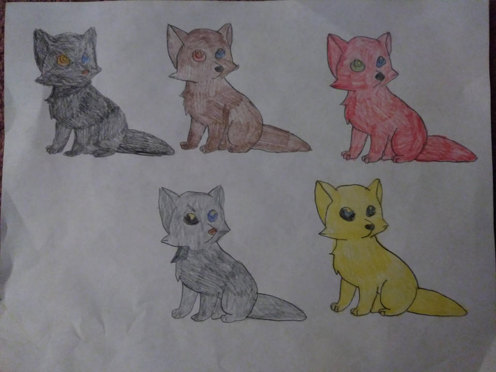 Connor and Connie's Pups- Art Adoption by CalliesKennel