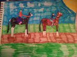 Pressia and Star's First Race by CalliesKennel
