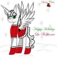 Santa and I wish happy holidays by LivWolfhunter