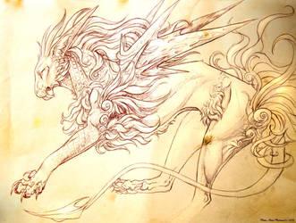 Feline Sketch by PenutKitty