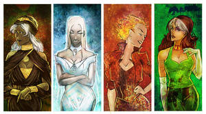 X-men ladies by Larbesta