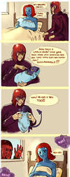 Magneto, the Oblivious Dad by Larbesta