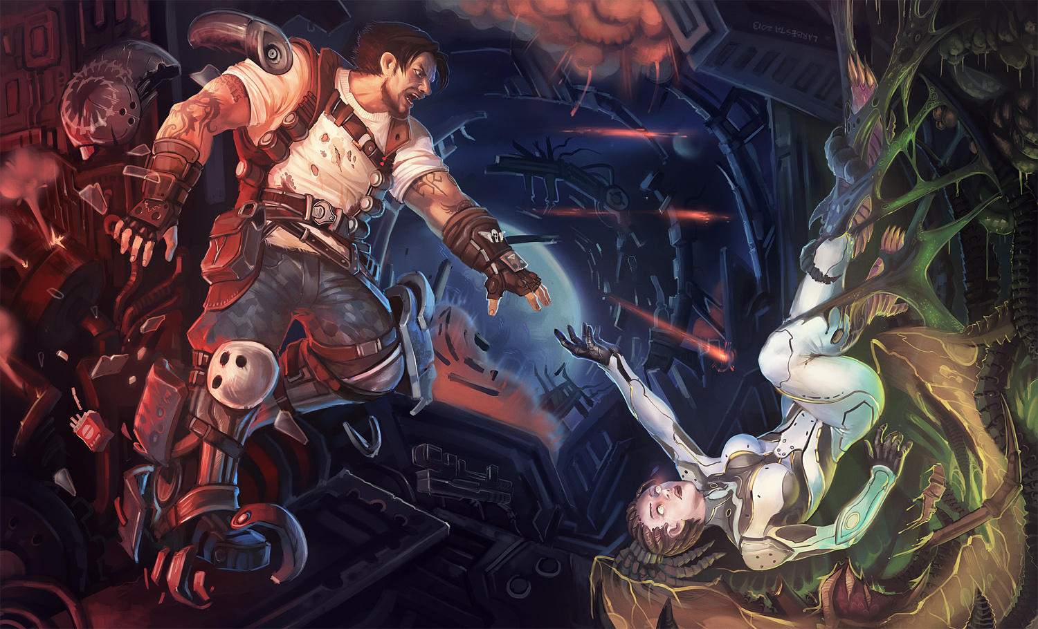 Comission: HotS Kerrigan and Raynor by Larbesta
