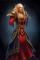 Commission: Magister Archivist by Larbesta