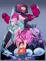 Steven and the Robot Gems! by Larbesta