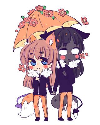 Cheif and Haruko by BuenasnochesLilDucky