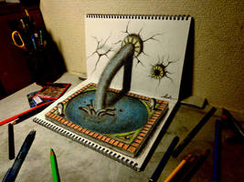 3D Drawing - Fountain of Youth by NAGAIHIDEYUKI