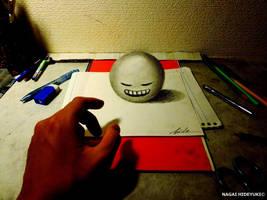 3D Drawing - 3D ball by NAGAIHIDEYUKI