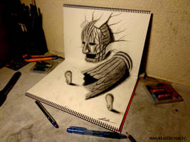 3D Drawing - Entrance to the dubious world by NAGAIHIDEYUKI