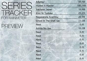 Series Tracker for Rainmeter - Preview by Dariosuper