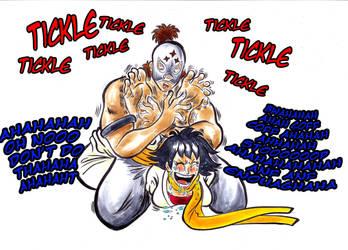 El Fuerte vs Makoto ( Tickle Fight ) by Gladiatore89