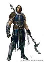 asian  dragon warrior by hdy9108
