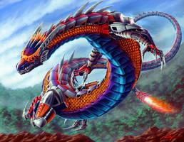 Kanohi Dragon by Ferain