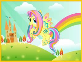 Rainbow Power Fluttershy by unicornsmile