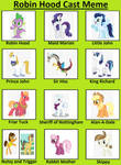 Robin Hood Cast MLP Style by unicornsmile