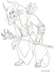 Yahuk Thornheart - sketch by MadKakerlaken