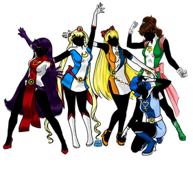 The Legion of Senshi-Heroes: Inners Edition by ginadonahue