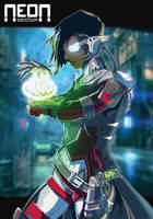 Neon Sanctum - NPC -- Hacker by DavyWagnarok