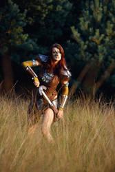 Aela the Huntress IV by o0shokei0o