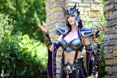 Dark Elf Sorceress by o0shokei0o