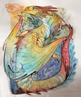 macaw dragon by mojo123s