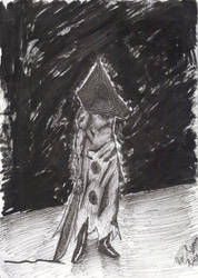 Pyramid Head Inked by nokidney13