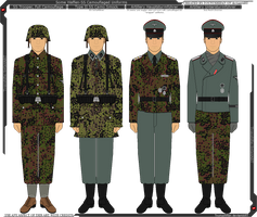 Some Waffen-SS Camouflage Uniforms by Grand-Lobster-King
