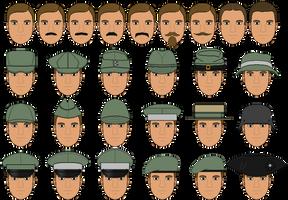 Male Pixel Base Hair + Headgear Templates by Grand-Lobster-King