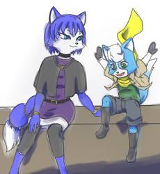 Star Fox: Krystal and Marcus by Kokoro-Tokoro