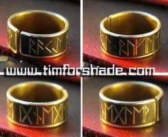 Elder Futark adjustable ring by TimforShade