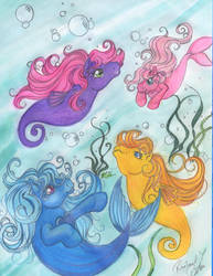 seaponies COLORED by tearsofthunder