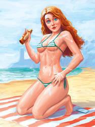 Susi on the beach! by Atilio-Gambedotti