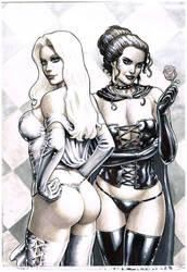 Black queen, White queen by Atilio-Gambedotti