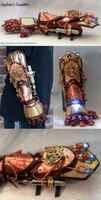 Completed Explorer's Gauntlet | Steampunk Gauntlet by CraftedSteampunk