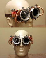 Steampunk Goggles - With Head for Scale by CraftedSteampunk