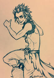 Sketch Commission- Kirishima by ChelseaFavre