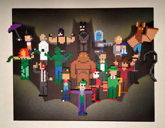 Batman and his Rogues by PixelArtShop