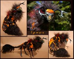 Ignus the Great Flame Kirin by Vertaki