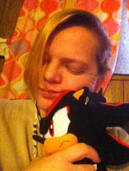 Shadow Selfie 9: It's nap time with Shadow. by IceDragon24