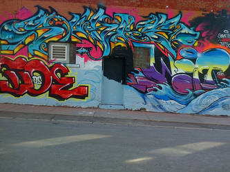 graffiti ship waves by thegreatbobinsky