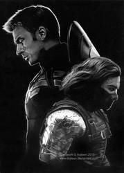 Captain America and Winter Soldier by Ilojleen
