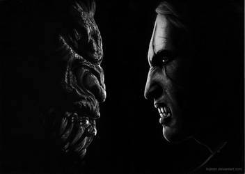 The Witcher: Geralt versus striga by Ilojleen