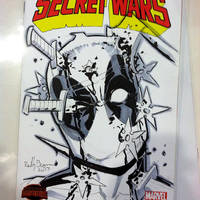 Deadpool Sketch Cover by ReillyBrown