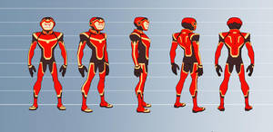 Outrage character turnaround by ReillyBrown