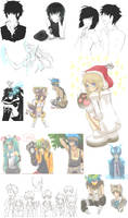 More random doodles D8 by RishuMisu