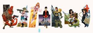 Indie Comics Lineup 1 by alexmax