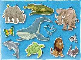 A bunch of wild animals by alexmax